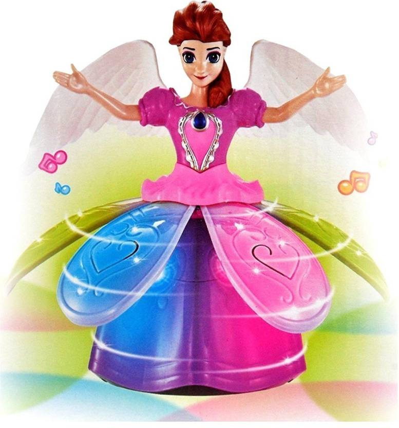 0a852e681e1 HALO NATION Frozen Doll Dancing   Rotating Angel Girl - Dazzling Lights  with Music - Princess Gift Toy (Multicolor)
