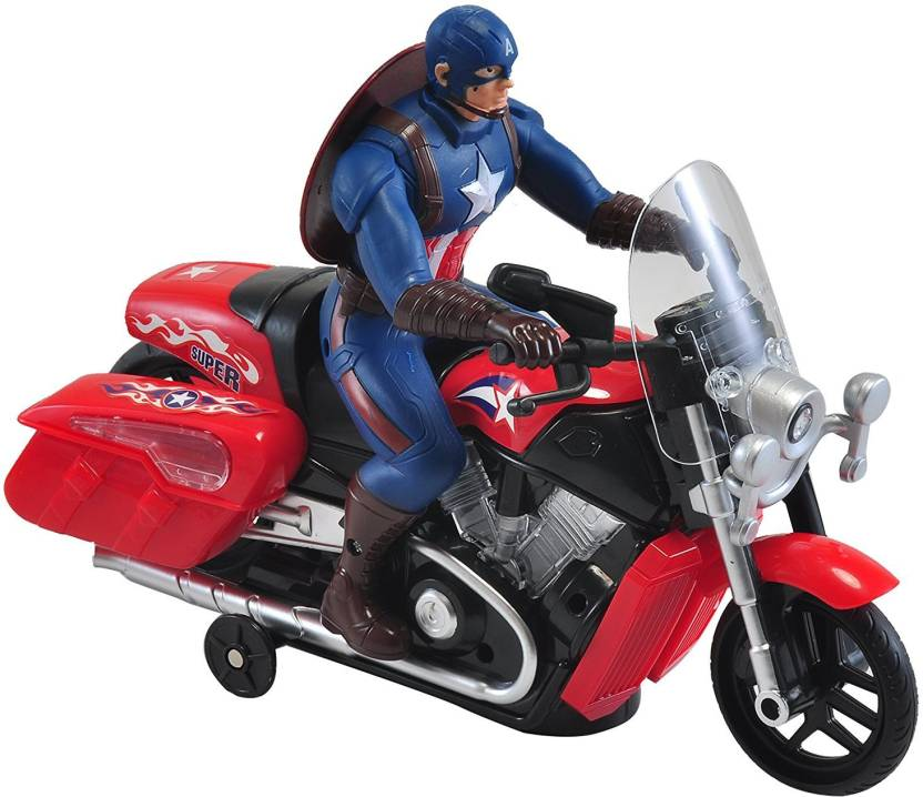 Vshine Captain America Bike Toy With 3d Lights And Music Captain