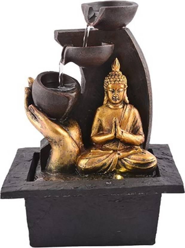 Japson Lord Gautam Buddha Water Fountain Showpiece for Home Decoration  Bhagwan Murti Model 101 Decorative Showpiece - 24 cm (Polyresin e1aacda8f2