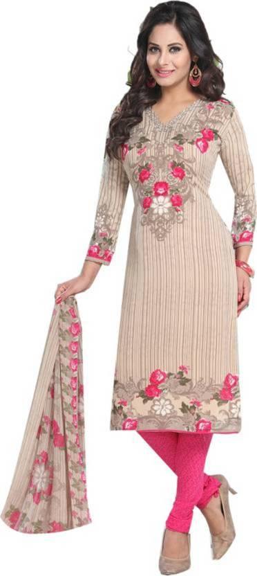 FastColors Crepe Printed Salwar Suit Dupatta Material