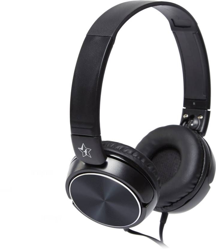 Flipkart SmartBuy On the Ear Foldable Headphones  (Black, On the Ear)
