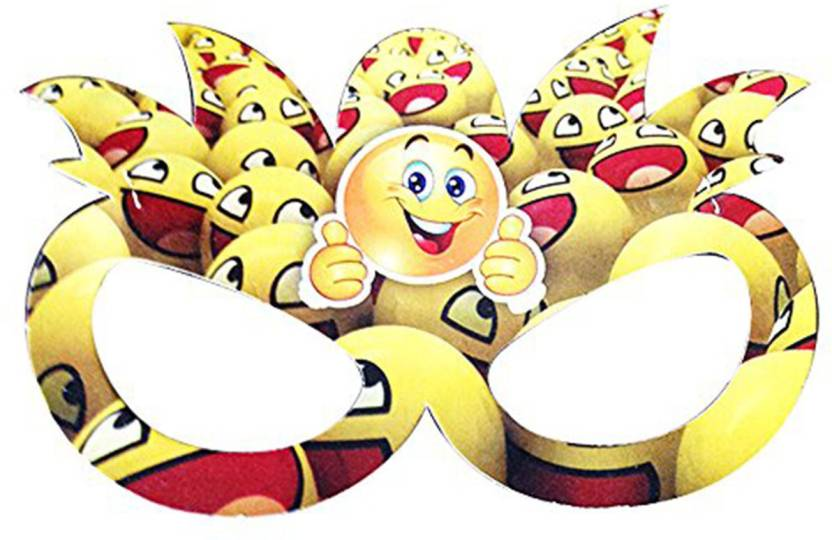 PARTY PROPZ EYE MASK SET OF 10 EMOJI BIRTHDAY DECORATION