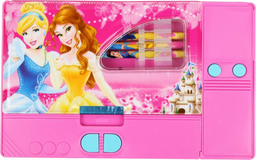 Toyvala Barbie Jumbo Pencil Box Art Plastic Pencil Box