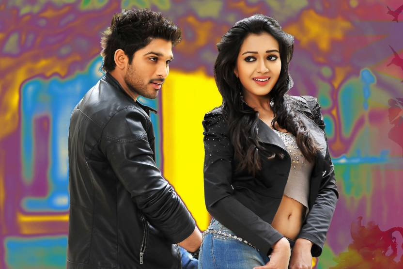 Allu arjun and catherine tresa Poster Paper Print (18 inch X 12 inch
