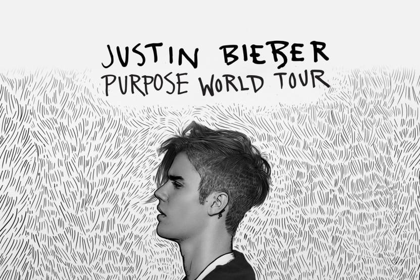Justin Bieber Purpose World Tour Poster Paper Print 18 Inch X 12
