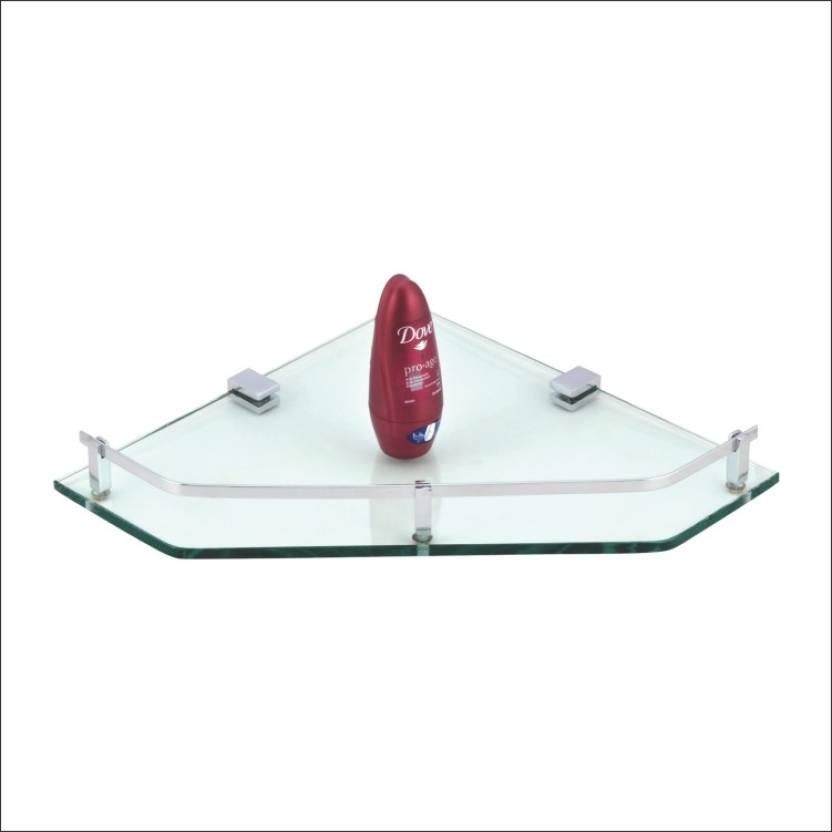 Kamal Glass Shelf Kubix - Corner 12 Inch Glass Wall Shelf Price in ...