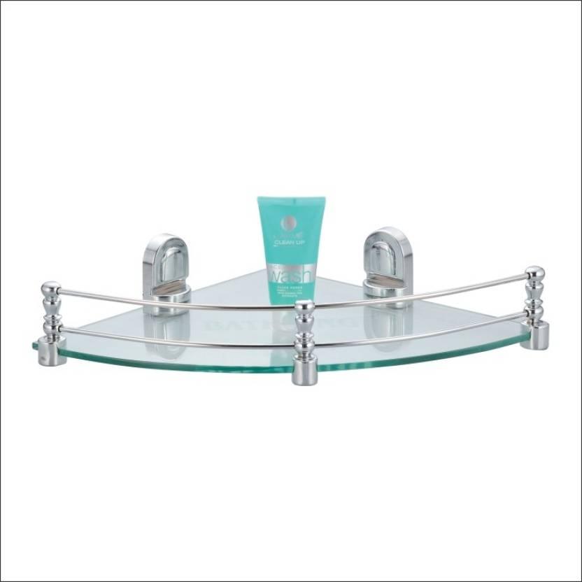 Kamal Glass Shelf Royal - Corner 12 Inch Glass Wall Shelf Price in ...