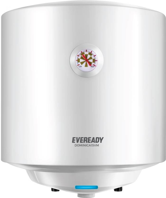 Eveready 15 L Storage Water Geyser  (White, Dominica15VM)-5% OFF