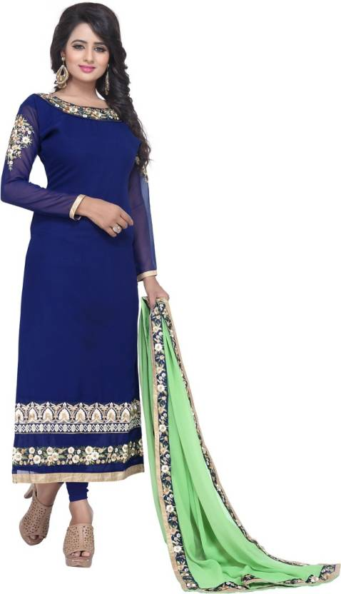 Fashion Ritmo Georgette Self Design Semi-stitched Salwar Suit Dupatta Material