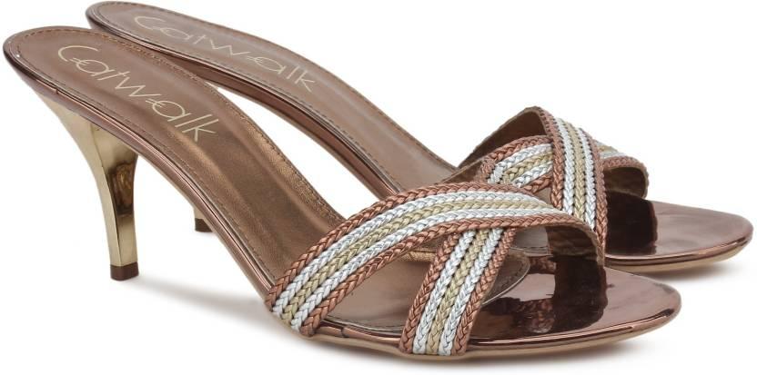 5a0289940 Catwalk Women BRONZE-Wrong Heels - Buy BRONZE Color Catwalk Women BRONZE-Wrong  Heels Online at Best Price - Shop Online for Footwears in India