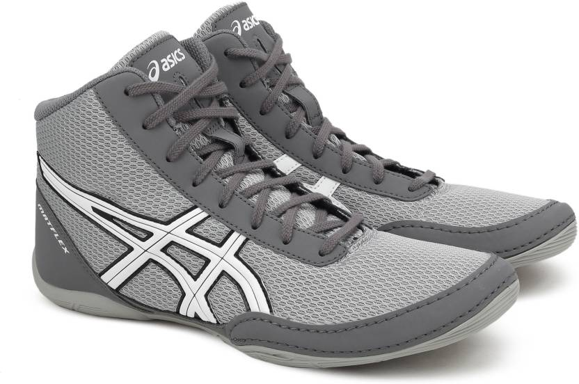 3c2fb4a460491f Asics MATFLEX 5 Wrestling Shoes For Men - Buy LIGHTGREY WHITE BLACK ...