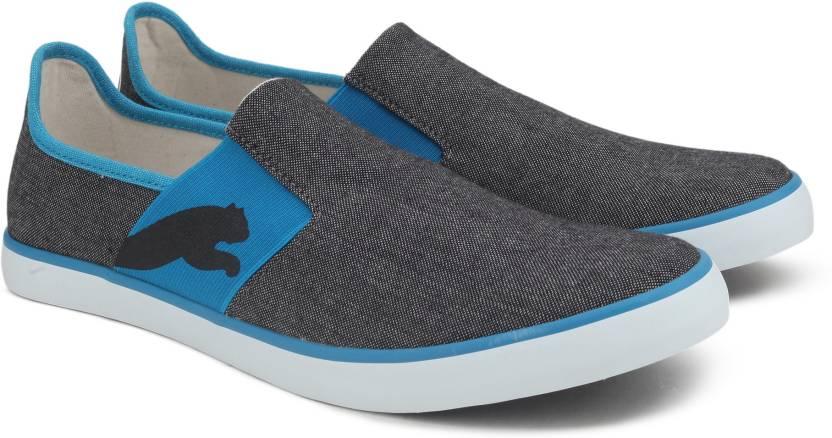 04b53a43ba69 Puma Lazy Slip On Sneakers For Men - Buy Puma Black-Hawaiin Surf ...