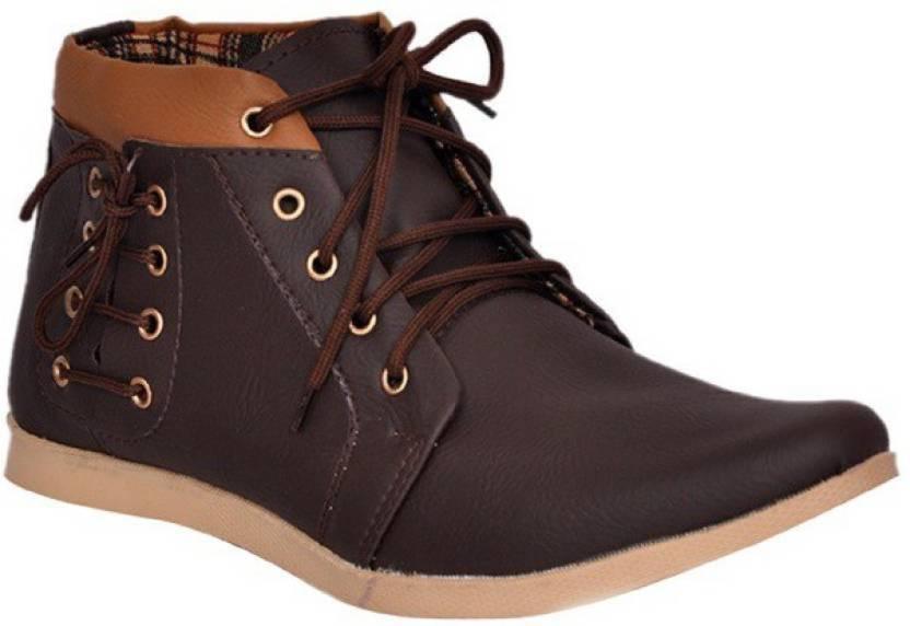 baa8e07479 Shoe Icon Boots For Men - Buy Brown Color Shoe Icon Boots For Men ...
