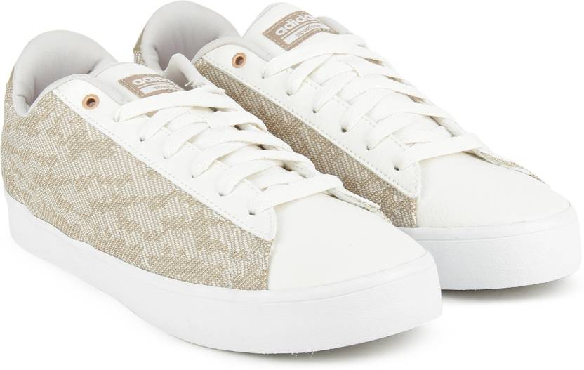 brand new 0c336 3d01e ADIDAS NEO CF DAILY QT CL W Sneakers For Women (White, Beige)