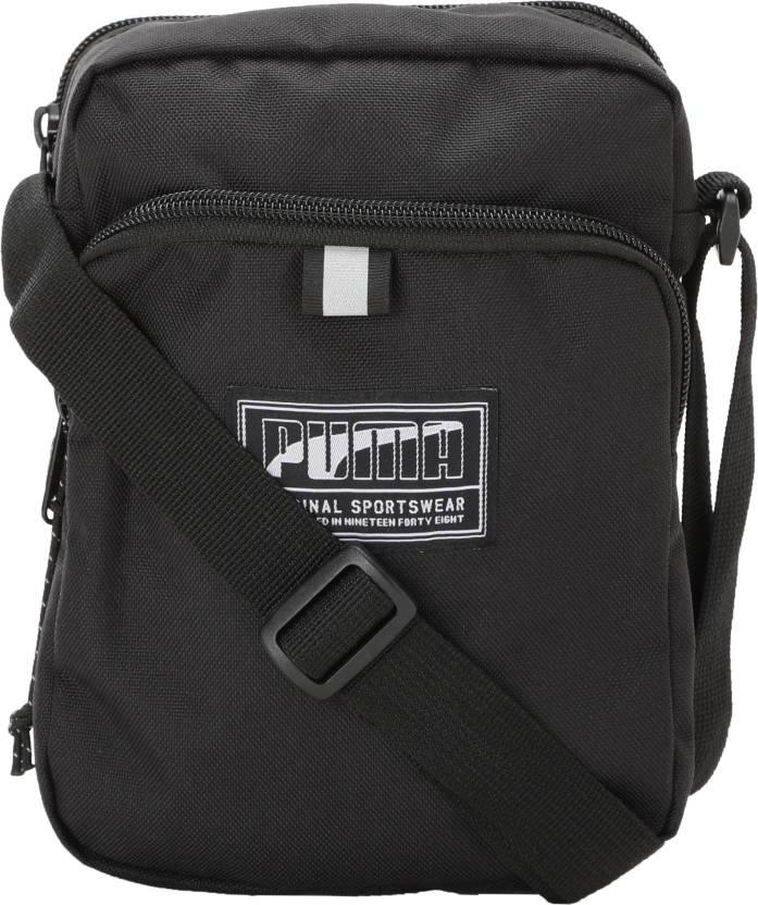 9de89e43acbd Buy Puma Sling Bag Black Online   Best Price in India