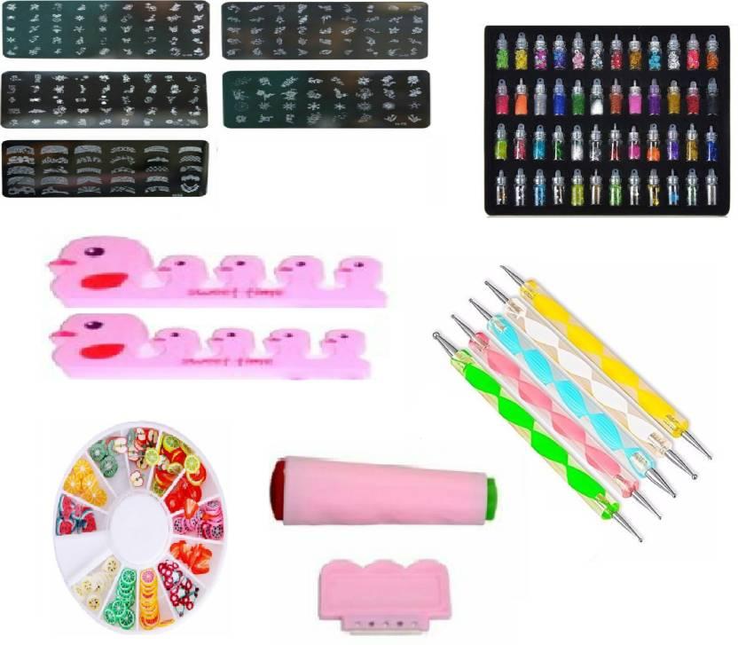 Royalkart Master Nail art Kit With 5 image plates, Nail Stamper and ...