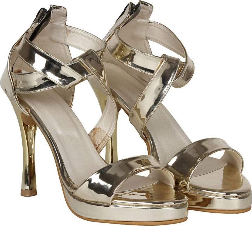 db56dc0648ae Misto Women Gold Heels - Buy Misto Women Gold Heels Online at Best Price -  Shop Online for Footwears in India