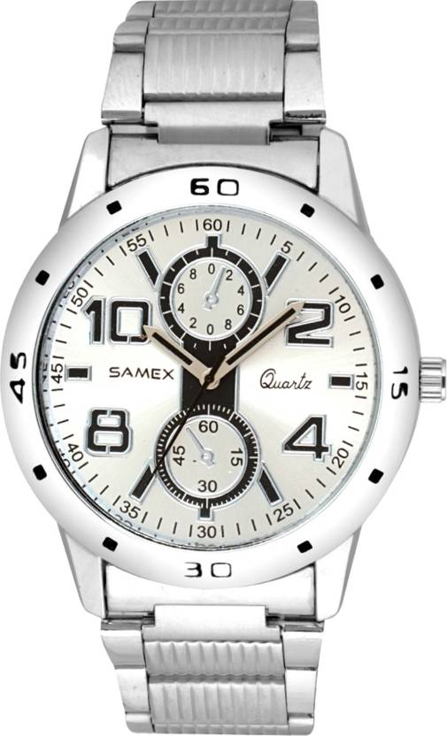 960e4b8d87246 SAMEX CHRONOGRAPH STYTLISH LATEST BIG DIAL METAL WATCH BRANDED FAST SELLING  BEST MENS WATCHES DEALS IN BIG BILLION SALE DAYS Watch - For Men - Buy  SAMEX ...