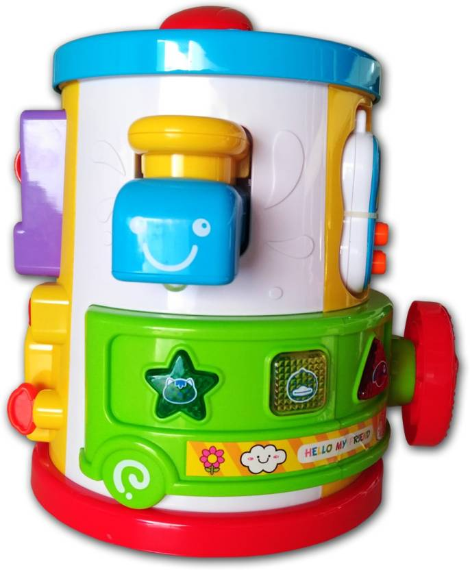 new concept eb584 86ecf Toys Factory Toys Factory Abero Drum Rattle (Multicolor)