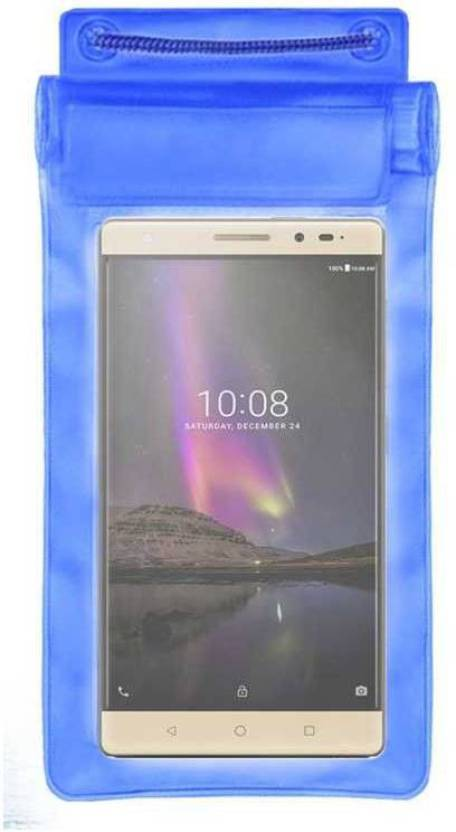 ACM Pouch for Lenovo Phab 2 Plus Blue, Waterproof, Silicon