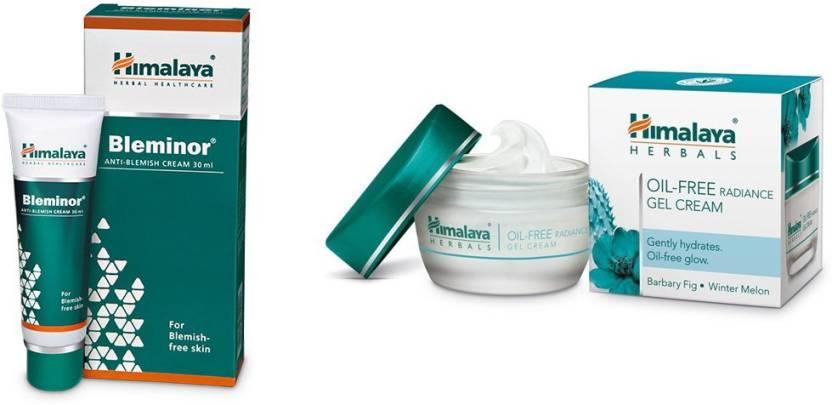 46da69b026f6 Himalaya Bleminor Anti Blemish Cream, Oil Free Radiance Gel Cream (Set of 2)