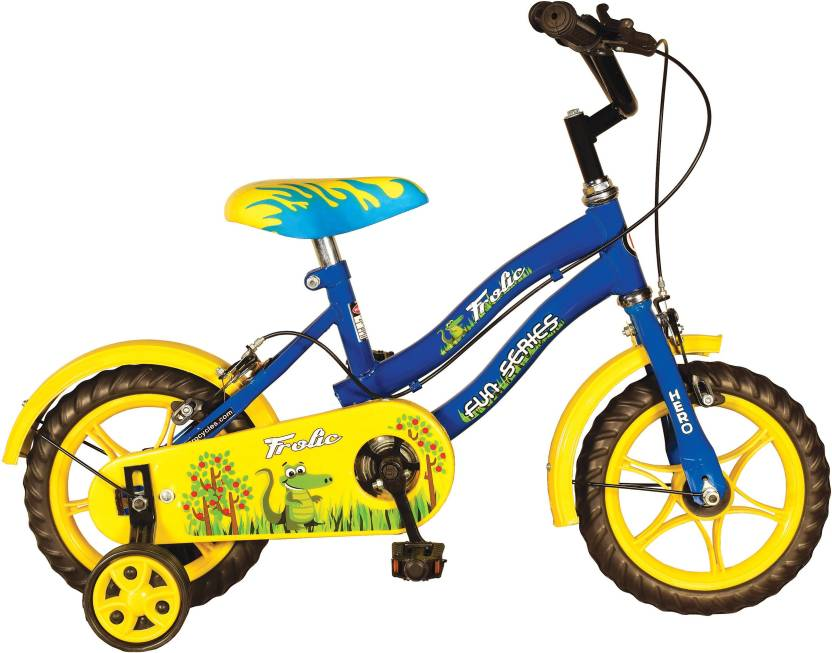 Hero Frolic 12 T Single Speed Recreation Cycle  (Blue, Yellow)