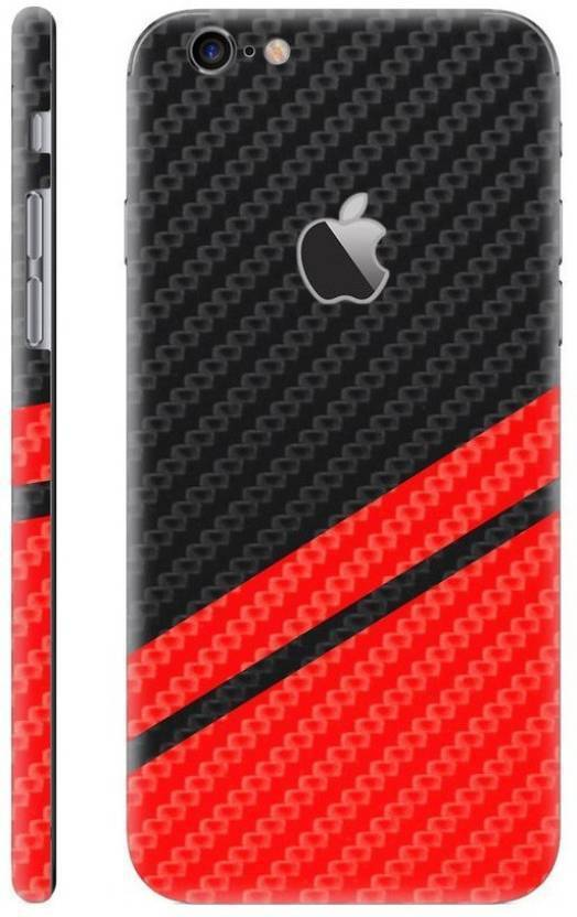 online retailer b9133 02634 Crystal coat Black & Red Carbon Fibre Skin Iphone 6 Mobile Skin
