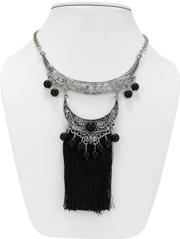 b3b93e6ca0a781 NAWAB two layer long black boho afghani tassel necklace Alloy Necklace  Price in India - Buy NAWAB two layer long black boho afghani tassel necklace  Alloy ...