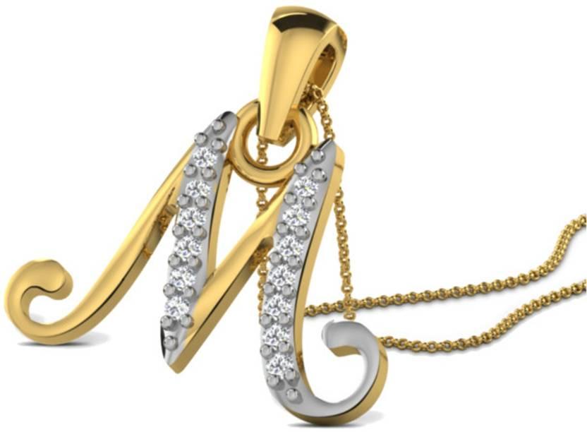Kataria Jewellers Letter M Alphabet Initial American Diamond Studded 92.5  BIS Hallmarked Silver Pendant Price in India - Buy Kataria Jewellers Letter  M ... ca84b0e4db6