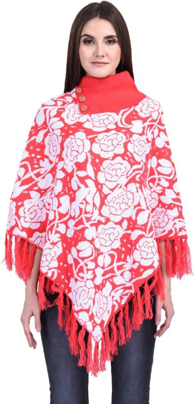 cbcd09c3d eCools Women Ladies Girls Winter wear Woolen Poncho - Buy eCools Women  Ladies Girls Winter wear Woolen Poncho Online at Best Prices in India