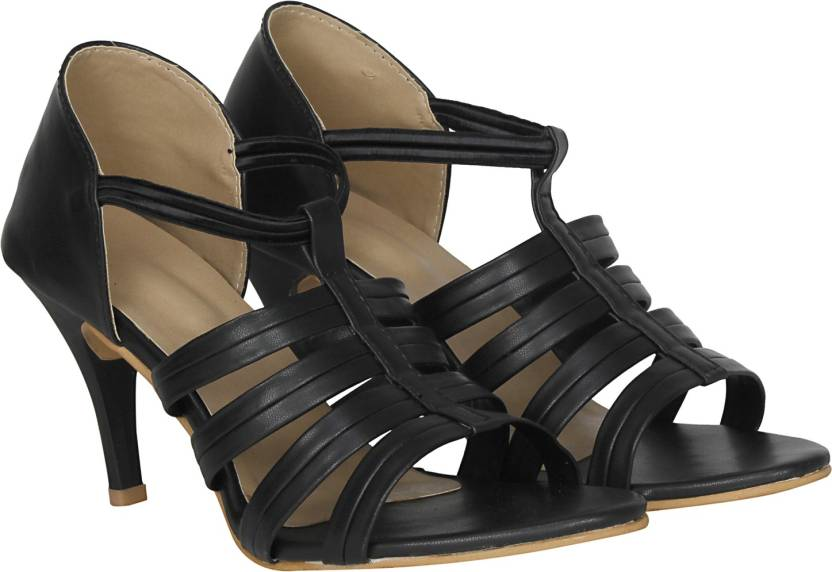 0469adc7c9b0 Misto Women Black Heels - Buy Misto Women Black Heels Online at Best Price  - Shop Online for Footwears in India