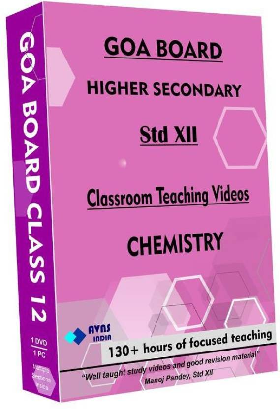 AVNS INDIA Goa Board Class 12 - Chemistry Full Syllabus