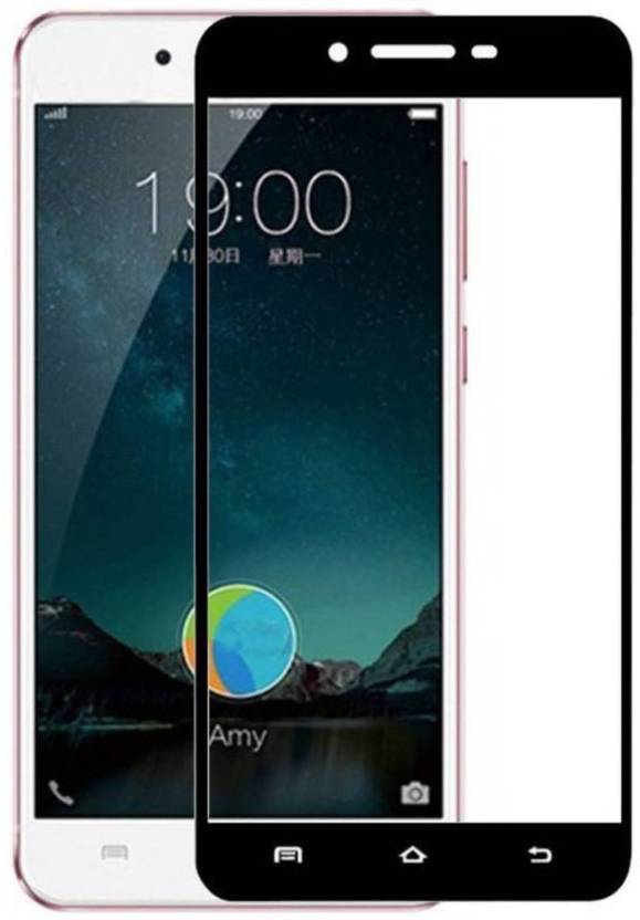 PAV Tempered Glass Guard for Vivo Y55 / Y55S / Y55L Full Screen Coverage -  Black Colour
