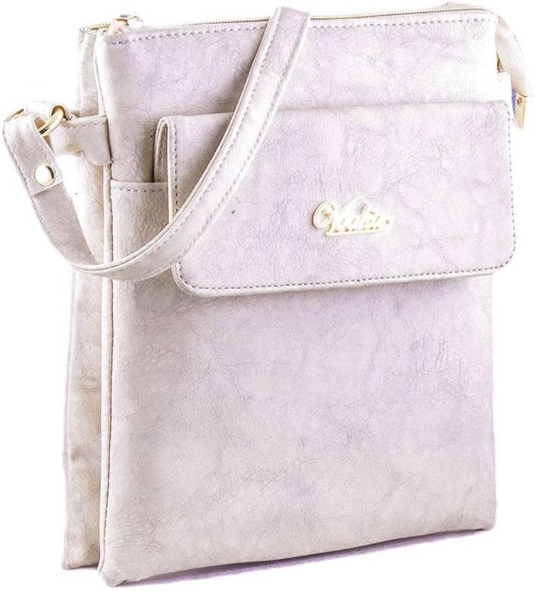 70a220314b VOAKA Women Casual White PU Sling Bag White - Price in India ...