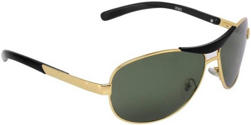 27cfea2343 Buy Aligatorr Round Sunglasses Green For Men   Women Online   Best ...