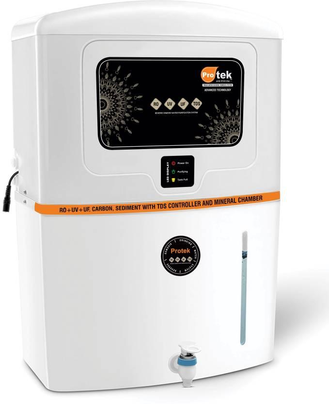 Protek Elite Plus with LED Indication 12 L RO + UV + UF + TDS Water Purifier