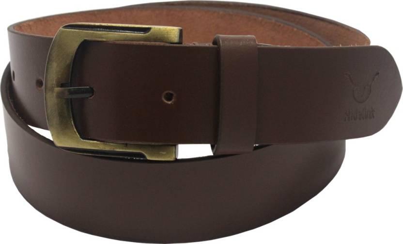df319b727 Hidelink Men   Women Formal Brown Genuine Leather Belt Brown - Price in  India