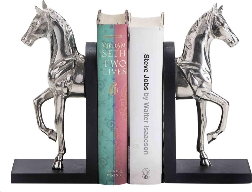 Sammsara Sammsara Decorative Buzzy Galloping Horse Bookend Set Of 2    Unique Heavy Metal Bookends For