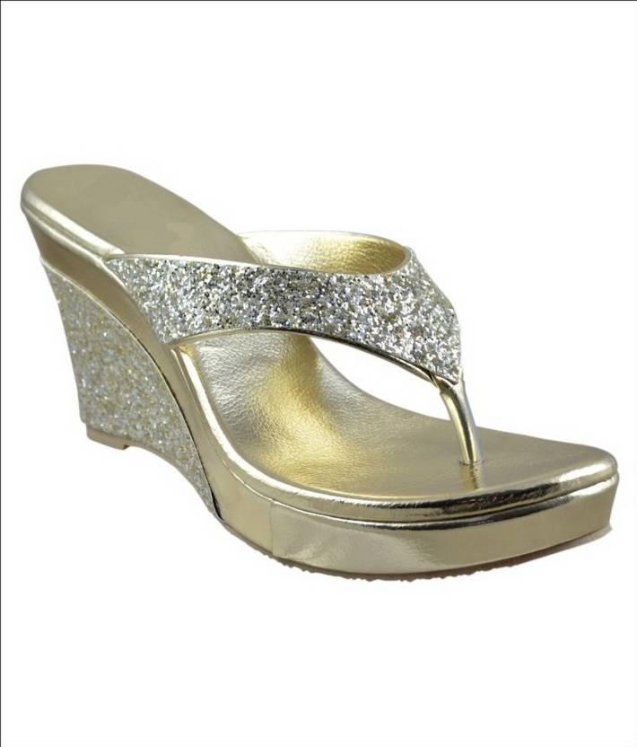 9d78e306ab Shoe Cloud Women Gold Wedges - Buy Shoe Cloud Women Gold Wedges Online at  Best Price - Shop Online for Footwears in India   Flipkart.com