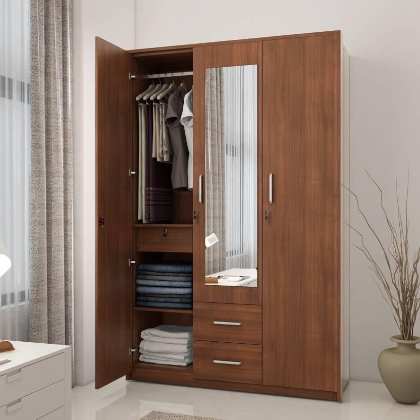 Spacewood Classy Engineered Wood 3 Door Wardrobe