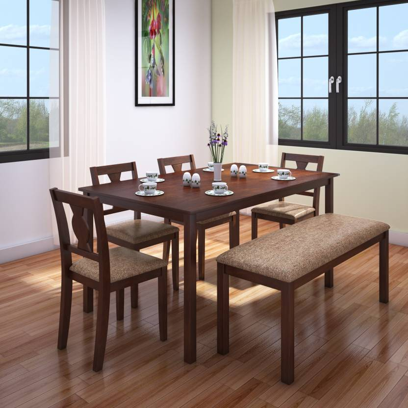hometown artois solid wood 6 seater dining set - 6 Seater Dining Table And Chairs