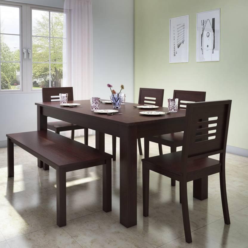 9d6a5f09ef1bf Urban Ladder Arabia - Capra Solid Wood 6 Seater Dining Set (Finish Color -  Teak)