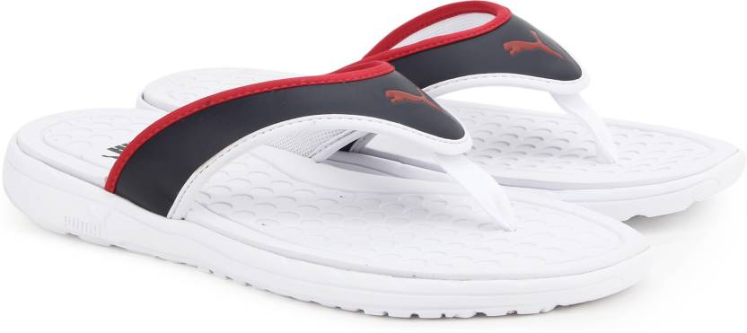 Puma Lycus Slippers - Buy White-High Risk Red-Peacoat Color Puma ... 50ad48bcd