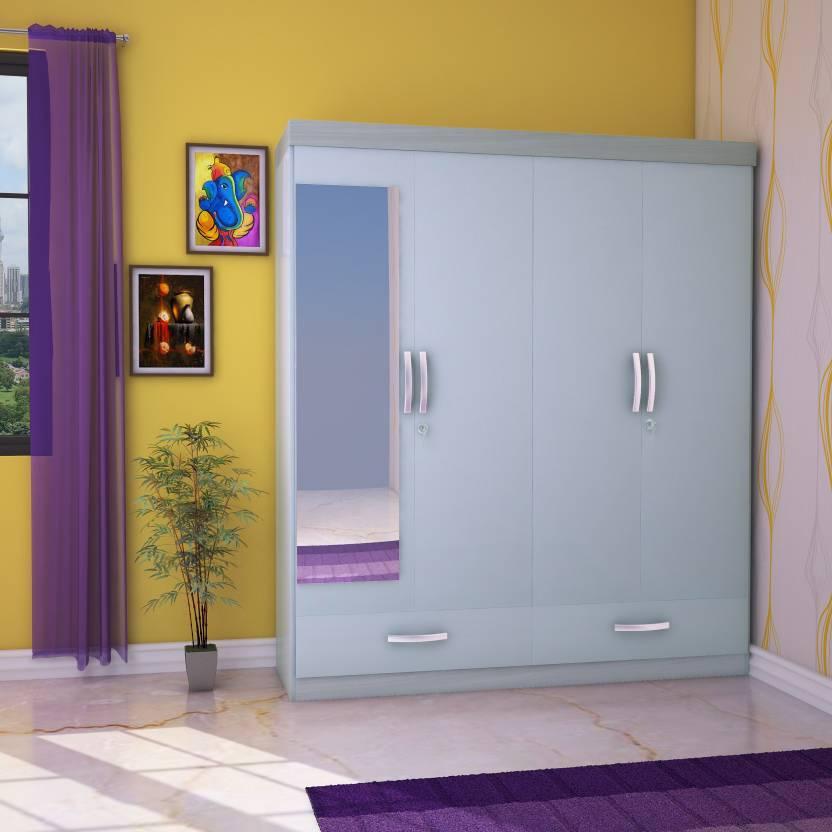 Hometown Apollo Engineered Wood 4 Door Wardrobe Price In India Buy