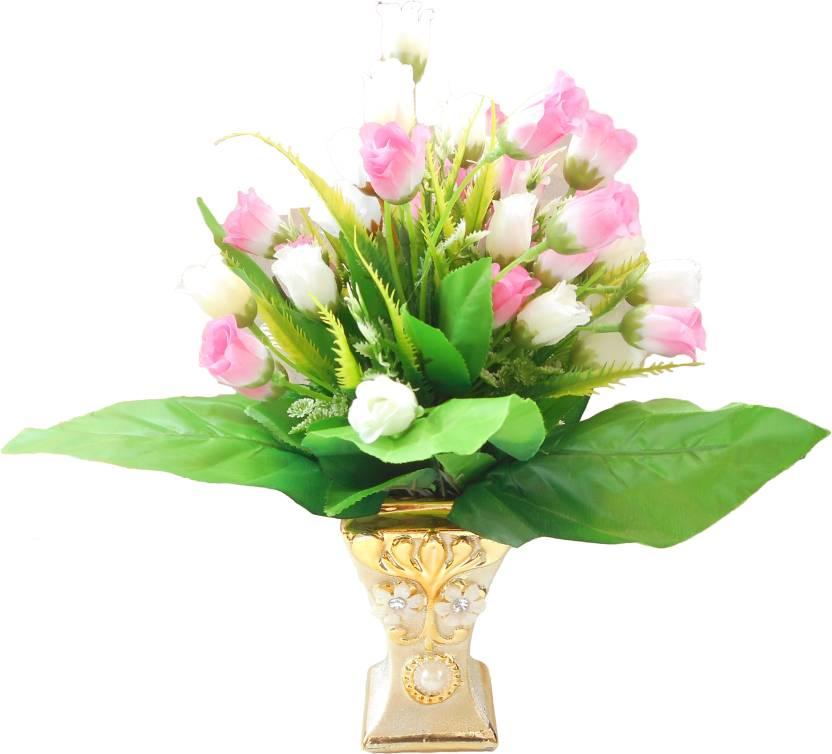 58ae00dc290c6 SKY TRENDS Happy Diwali Home Decoration Golden Flower Pot Wild Artificial  Plant with Pot (30 cm