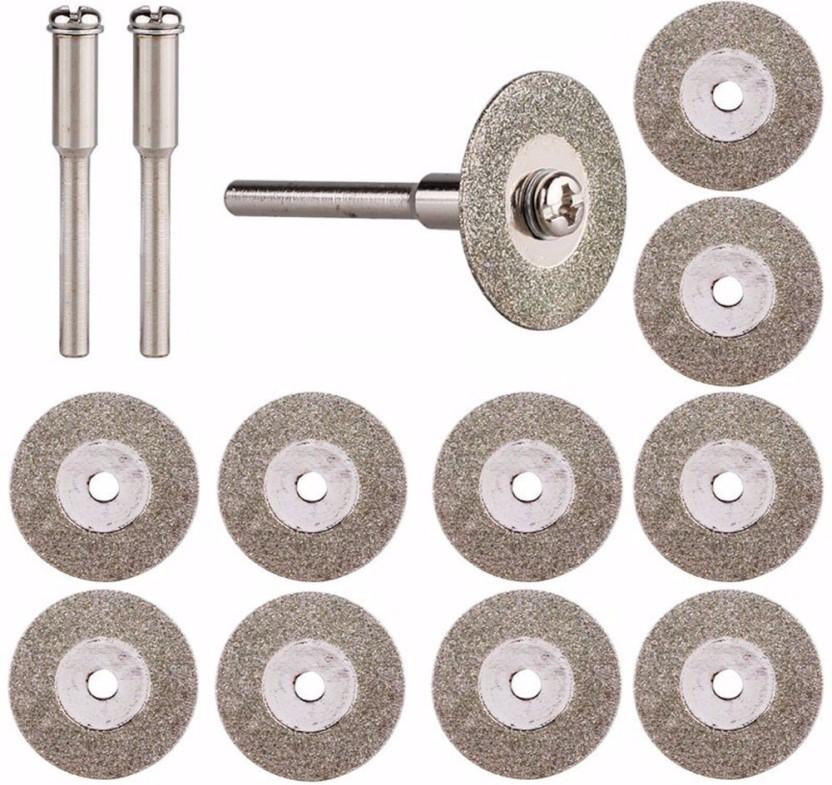 10Pcs Diamond Cut Off Discs Wheel Blades Set for Power Drill Craft Rotary Tool