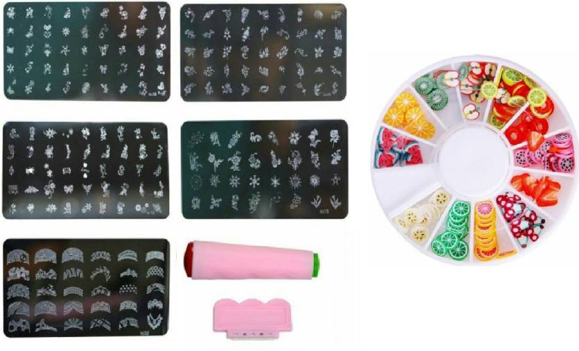 Royalifestyle Nail Art Stamping Kit Jumbo 5 Image Plates Price In