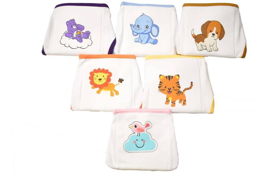 7022e2e848f Softcare PREMIUM COTTON CLOTH REUSABLE PADDED NAPPY 6 PCS SET SIZE NEWBORN  BABY - Buy Baby Care Products in India