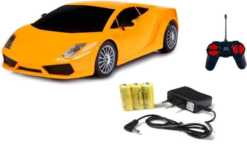 Miss & Chief 4 Channel Mini Racing Radio control RC Car, Yellow  (Yellow)