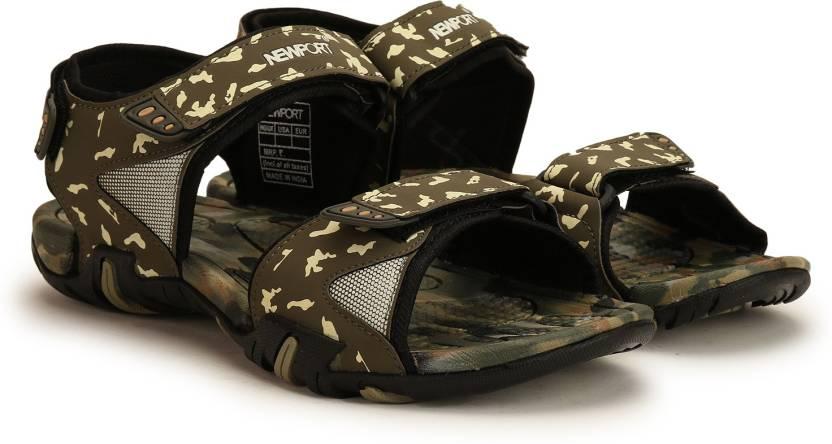 Newport Men Olive-Cemo Sports Sandals